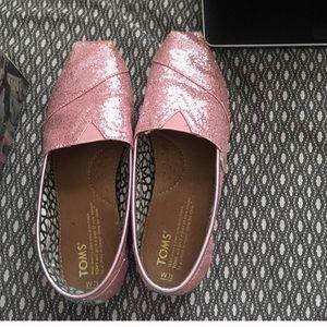 Pink glitter toms
